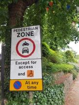 A road sign