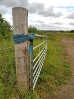 A gate post